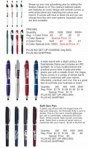 black friday promotional pens