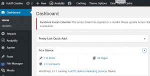 Yuloff Creative WordPress Dashboard