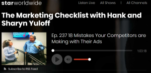The Marketing Checklist Episode 237 re display ads