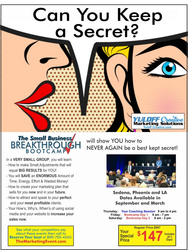 Flyer for The Small Business Breakthrough Bootcamp