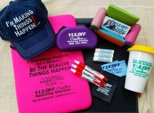 What a difference a day makes with Yuloff Creative promotional products