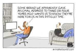 marketoonist's email miscommunication not properly acting as if